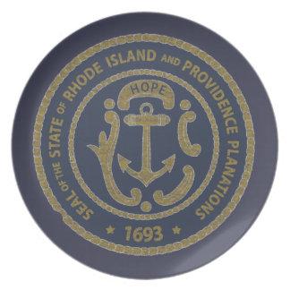 Rhode Island Seal Plate