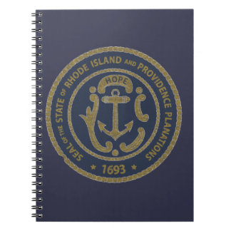 Rhode Island Seal Spiral Notebook