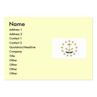 Rhode Island State Flag Pack Of Chubby Business Cards