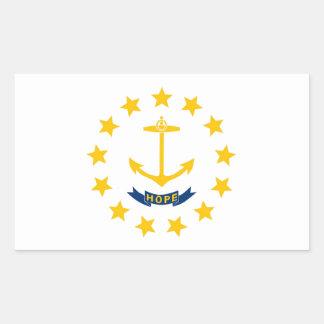 Rhode Island State Flag Rectangular Sticker