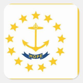 Rhode Island State flag Square Sticker