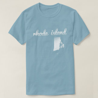 Rhode Island state in white T-Shirt