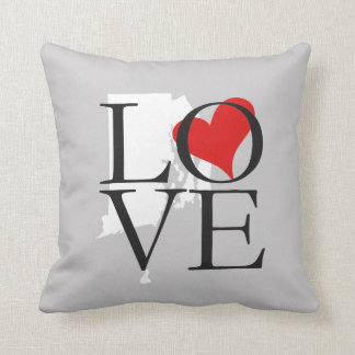 Rhode Island State Love Pillow