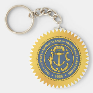 Rhode Island State Seal Key Ring