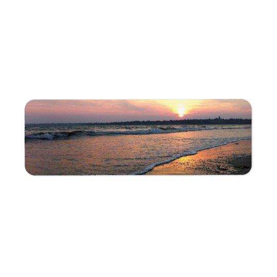 Rhode Island Sunset Return Address Label