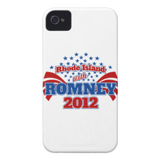 Rhode Island with Romney 2012 Case-Mate iPhone 4 Case