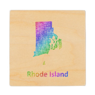 Rhode Island Wood Coaster