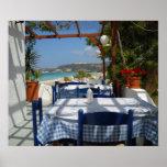 Rhodes Rhodos Island Restaurant Greece Poster