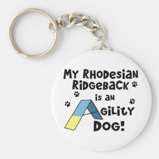 Rhodesian Ridgeback Agility Dog Keychain