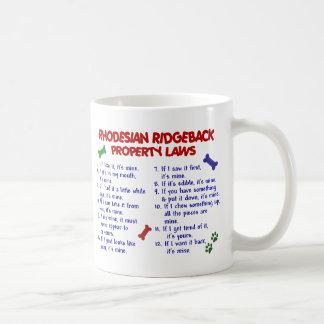 RHODESIAN RIDGEBACK BASIC WHITE MUG