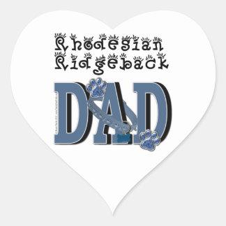 Rhodesian Ridgeback DAD Heart Sticker
