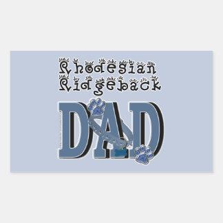 Rhodesian Ridgeback DAD Rectangular Sticker