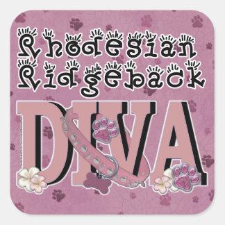 Rhodesian Ridgeback DIVA Square Stickers