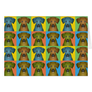 Rhodesian Ridgeback Dog Cartoon Pop-Art Card