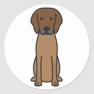 Rhodesian Ridgeback Dog Cartoon Round Sticker