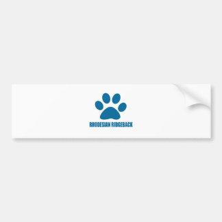 RHODESIAN RIDGEBACK DOG DESIGNS BUMPER STICKER