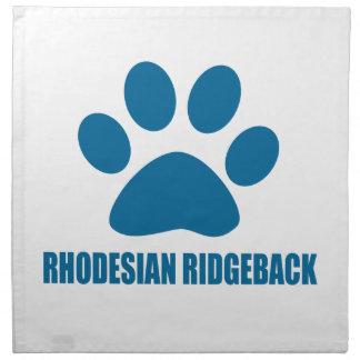 RHODESIAN RIDGEBACK DOG DESIGNS NAPKIN