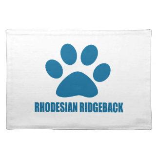 RHODESIAN RIDGEBACK DOG DESIGNS PLACEMAT