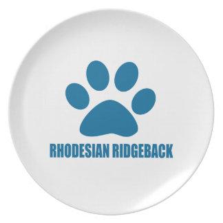 RHODESIAN RIDGEBACK DOG DESIGNS PLATE