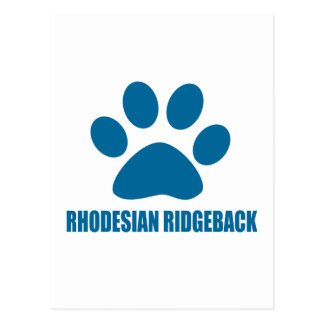 RHODESIAN RIDGEBACK DOG DESIGNS POSTCARD