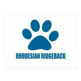 RHODESIAN RIDGEBACK DOG DESIGNS POSTCARD