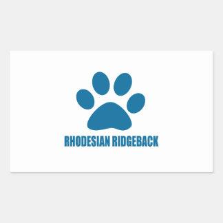 RHODESIAN RIDGEBACK DOG DESIGNS RECTANGULAR STICKER