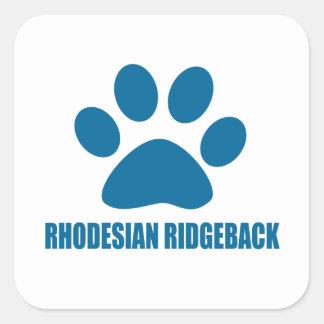 RHODESIAN RIDGEBACK DOG DESIGNS SQUARE STICKER