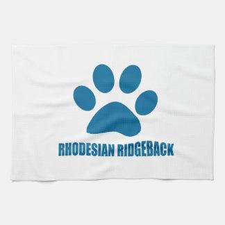 RHODESIAN RIDGEBACK DOG DESIGNS TEA TOWEL