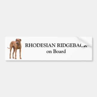 Rhodesian Ridgeback dog on board custom sticker Bumper Sticker