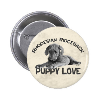 Rhodesian Ridgeback Drawing Button