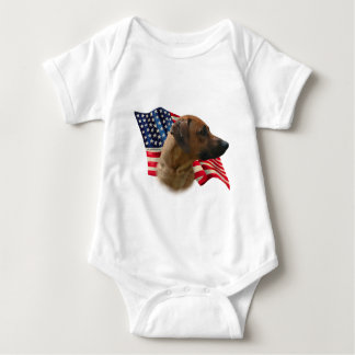 Rhodesian Ridgeback Flag Baby Bodysuit