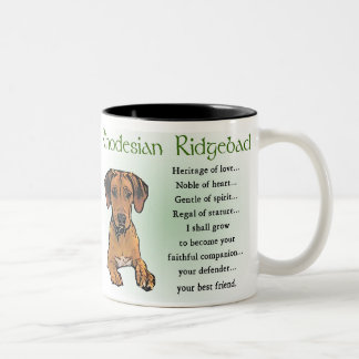 Rhodesian Ridgeback Gifts Two-Tone Coffee Mug