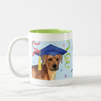 Rhodesian Ridgeback Graduate Two-Tone Coffee Mug