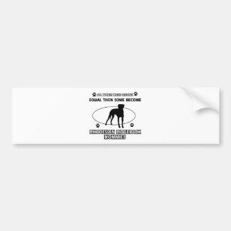 Rhodesian Ridgeback Mommy Designs Bumper Sticker