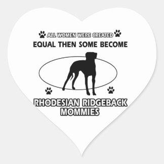 Rhodesian Ridgeback Mommy Designs Heart Sticker
