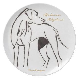 Rhodesian Ridgeback Party Plates
