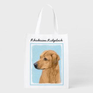 Rhodesian Ridgeback Reusable Grocery Bag