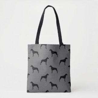 Rhodesian Ridgeback Silhouettes Pattern Tote Bag