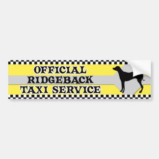 Rhodesian Ridgeback Taxi Service Bumper Sticker