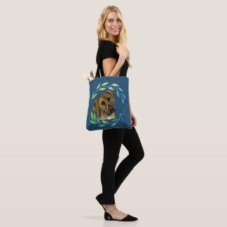 Rhodesian Ridgeback with a Wreath Watercolor Tote Bag