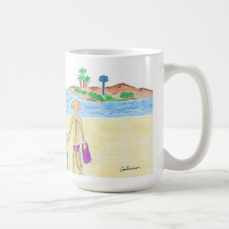 Rhodesian Ridgebacks go to the Beach Coffee Mug