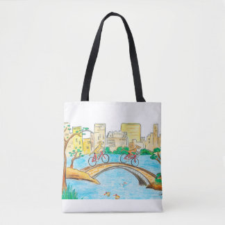 Rhodesian Ridgebacks ride Central Park tote