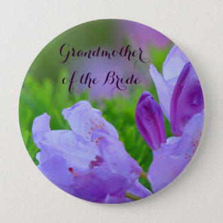 Rhododendron After Rain GRANDMOTHER OF THE BRIDE 10 Cm Round Badge