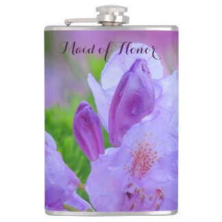 Rhododendron After the Rain MAID OF HONOR Hip Flask