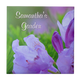 Rhododendron After the Rain Personalized Garden Ceramic Tile