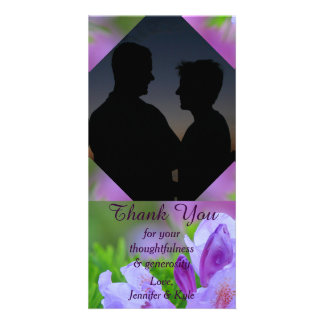 Rhododendron After the Rain Wedding Engagement Personalized Photo Card