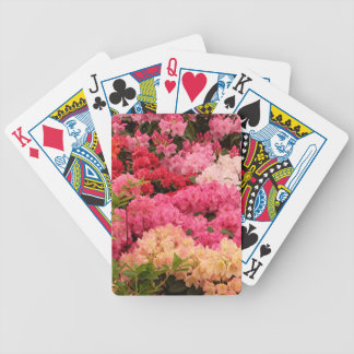 Rhododendron flowers bicycle playing cards