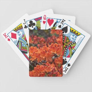 Rhododendron flowers poker deck