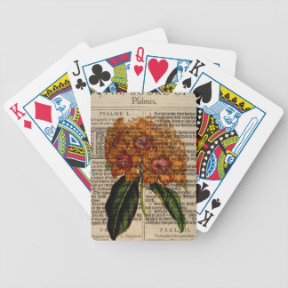 Rhododendron javanicum Flower Bicycle Playing Cards