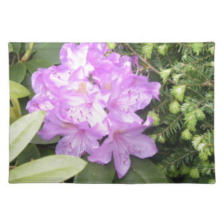 Rhododendron - Purple Flowers in Spring Placemat